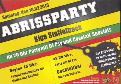 Abrissparty KiGa Staffelbach